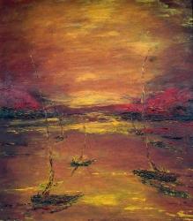 barche al tramonto 70x80  2006 JPG