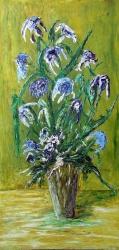 fiori azzurro blu 60x120  2004