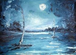 sogno al chiarore lunare 50x70  2007